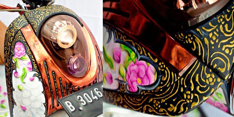 Goresan detail batik Nogo Sosro dikerjakan pakai canting