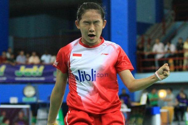 Pebulu tangkis yunior Indonesia nomor tunggal putri, Ruselli Hartawan.