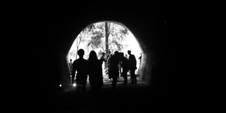 Gua bersejarah di Taman Hutan Raya Ir. H Juanda, Bandung.