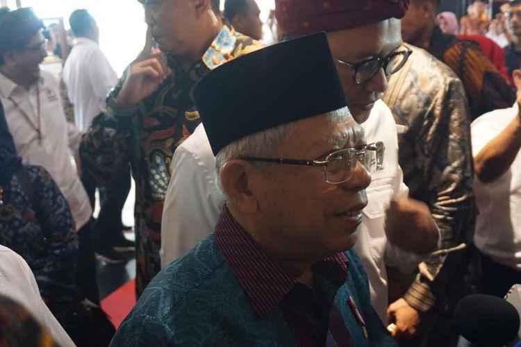 Wakil Presiden Maruf Amin di Badung, Bali, Jumat (29/11/2019).
