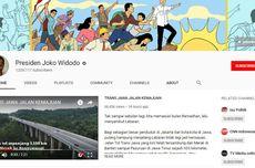 Akun YouTube Presiden Jokowi Tembus 1 Juta