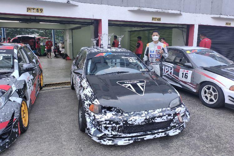 Rian Risky dari B16 AP Speed x RR Racing yang memecahkan rekor catatan waktu Sirkuit Sentul