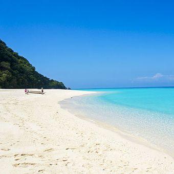 Pantai pasir putih di Boracay, Filipina