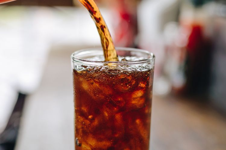 Ilustrasi minuman cola.