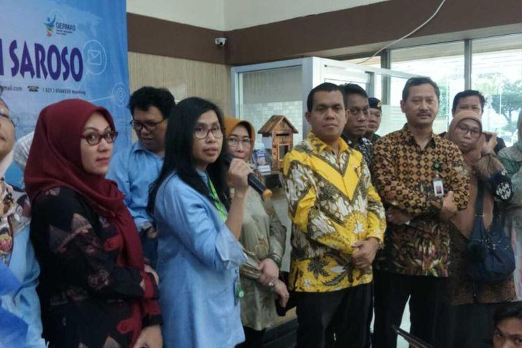 Jumpa Pers terkait virus novel corona di RSPI Sulianti Saroso, Tanjung Priok, Jakarta Utara, Rabu (29/1/2020)