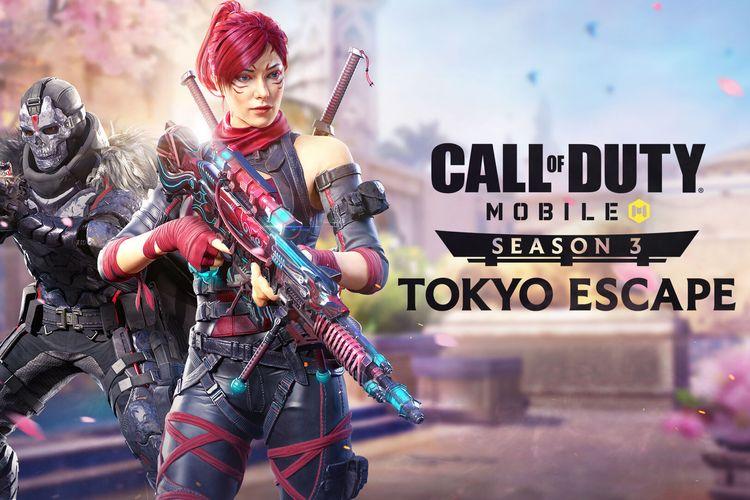 Poster Call of Duty Mobile Season 3 bertema Tokyo Escape.