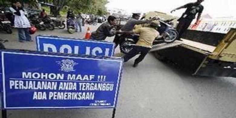 Ilustrasi polisi menggelar razia.