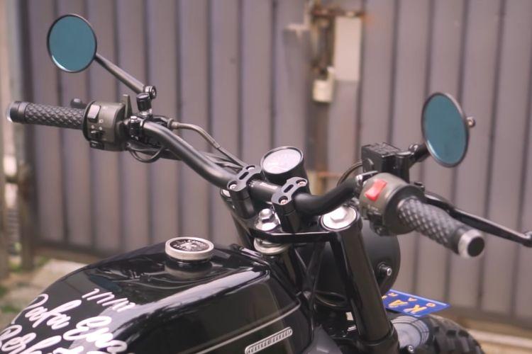 Motor custom Kawasaki Ninja 250 bergaya neo tracker garapan Katros Garage