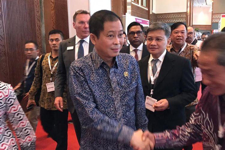 Menteri ESDM Ignasius Jonan di Jakarta, Rabu (31/7/2019).