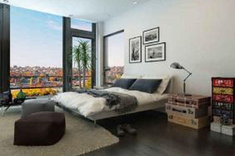Desain Kamar Tidur Sempit Tanpa Jendela  lima cara merancang kamar sempit jadi lega halaman all
