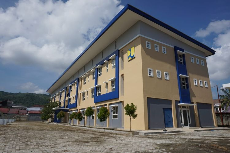 Salah satu pembangunan rusun untuk mendukung PON XX di Papua.