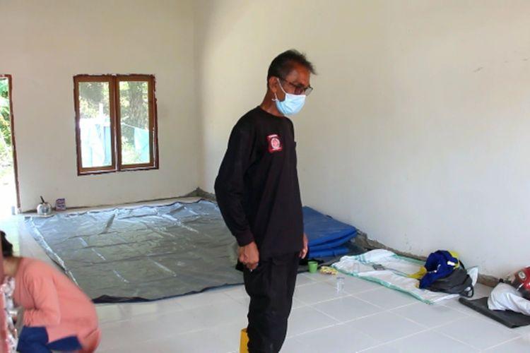 Gedung pesantren di Mamuju Tengah, Sulawesi Barat, yang diubah jadi lokasi isolasi pasien Covid-19.