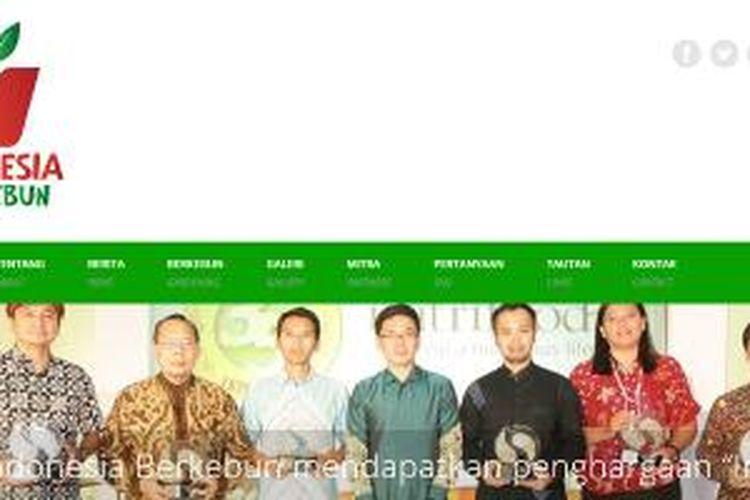 Screenshot situs Indonesia Berkebun
