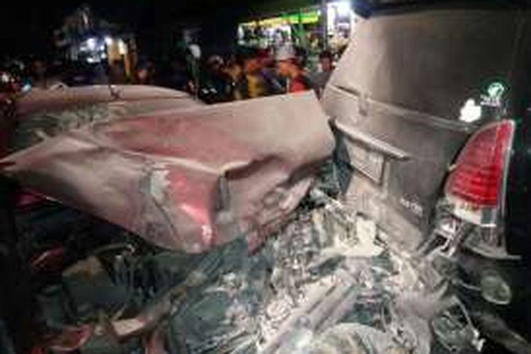 Kecelakaan di Jalan Tebet Timur Raya, dekat Warteg Warmo, pada Sabtu (1/10/2016).