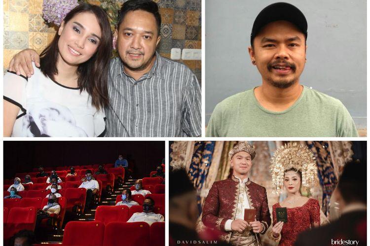 Kolase foto Feby Febiola dan Franky Sihombing, Wendy Cagur, Nikita Willy dan Indra Priawan, bioskop XXI