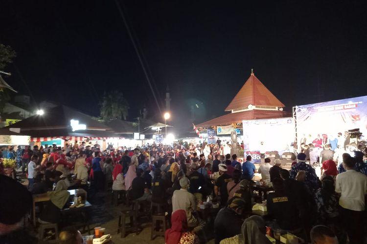 Suasana kawasan Citra Niaga saat deklarasi bakal pasangan calon Wali Kota dan Wakil Wali Kota Samarinda, Muh Barkati dan Darlis Pattalongi, Senin (17/8/2020).