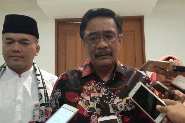 Gubernur DKI Jakarta Djarot Saiful Hidayat di Balai Kota DKI Jakarta, Jalan Medan Merdeka Selatan, Kamis (6/7/2017).