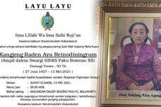 Istri Raja Keraton Solo Paku Buwono XII Wafat