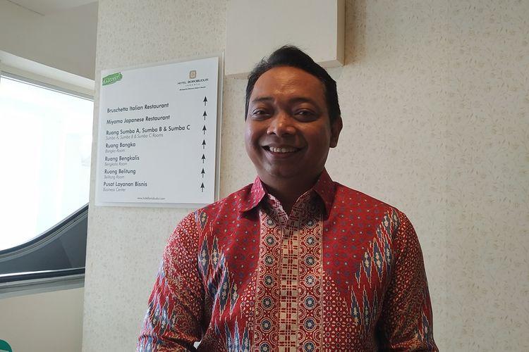 Direktur Utama PT Kimia Farma (Persero) Tbk atau Kimia Farma Verdi Budidarmo memberikan keterangan kepada awak media di Hotel Borobudur, Jakarta, Rabu (18/9/3/2019).