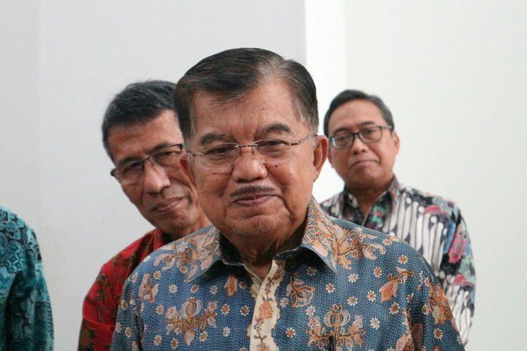 Wakil Presiden RI Jusuf Kalla ketika ditemui di Aula Fakultas Kedokteran Universitas Indonesia, Jakarta Kamis (22/3/2018).