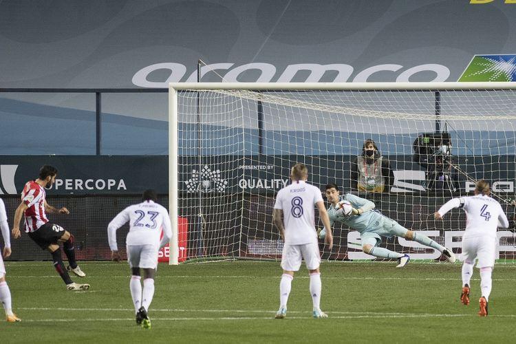 Pertandingan semifinal Piala Super Spanyol antara Real Madrid dan Athletic Bilbao di Staidon La Rosaleda, Kamis (14/1/2021) atau Jumat dini hari WIB.