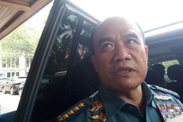 Kepala Staf TNI Angkatan Laut (KSAL) Laksamana TNI Ade Supandi di Jakarta, Senin (14/8/2017).