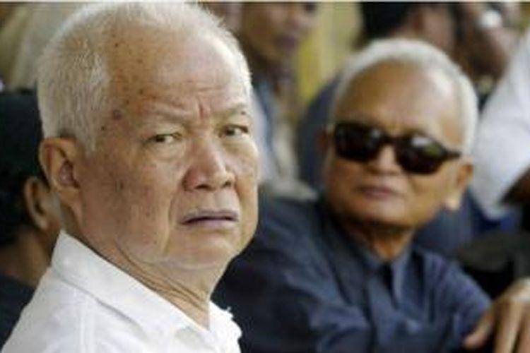 Khieu Samphan, salah seorang pemimpin rezim Khmer Merah yang dijatuhi hukuman penjara seumur hidup.