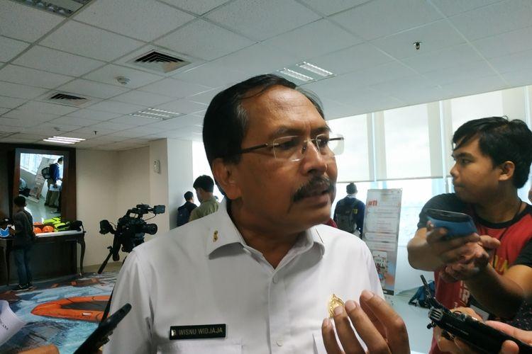 Deputi Sistem dan Strategi Badan Nasional Penanggulangan Bencana (BNPB) Wisnu Widjaja di Graha BNPB, Jakarta Timur, Selasa (11/2/2020).