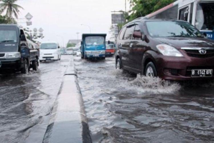 Ilustrasi banjir Jakarta