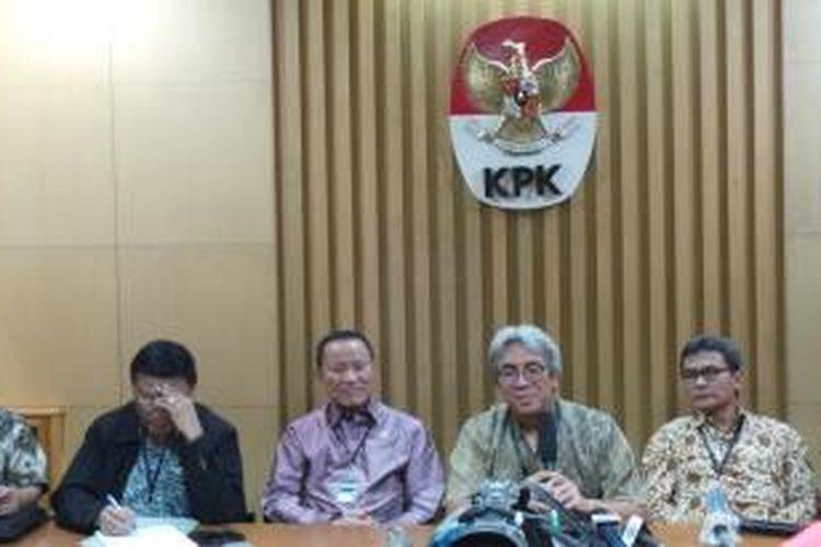 Pansel Pimpinan KPK ketika menggelar konferensi pers di KPK