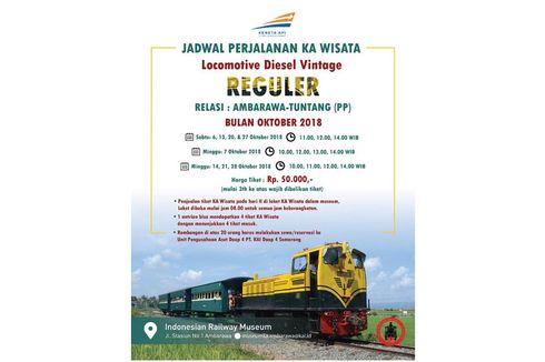 Ingin Jajal Berwisata dengan Kereta Tua di Ambarawa, Ini Jadwalnya