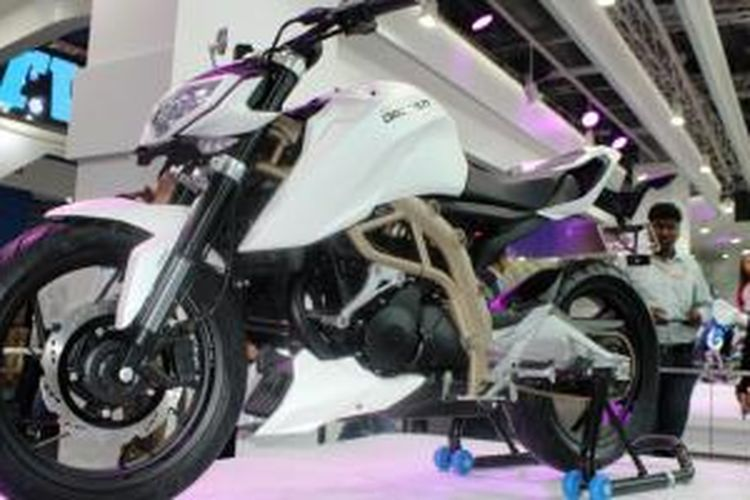 Konsep terbaru TVS menjadi petunjuk kelahiran sepeda motor berkapasitas mesin kecil di India.