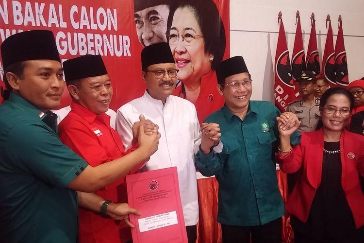 Gus Ipul didampingi pengurus PKB dan PDIP Jatim
