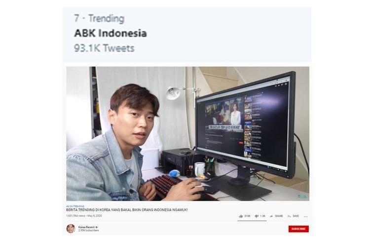"""Trending """"ABK Indonesia"""", Berawal dari Video yang Diunggah YouTuber Korea"""