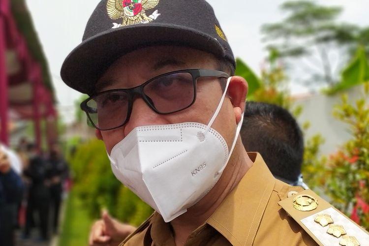 Bupati Banyumas Achmad Husein di RSUD Banyumas, Jawa Tengah, Senin (25/1/2021).
