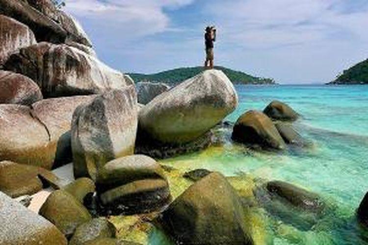 Pulau Penjalin di Kepulauan Anambas, Provinsi Kepulauan Riau.