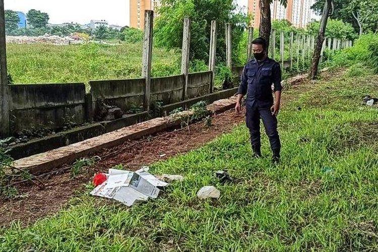 Sesosok mayat bayi ditemukan pada sebuah taman di Jalan Benyamin Sueb, Pademangan Timur, Pademangan, Jakarta Utara, Senin (1/2/2021) sore