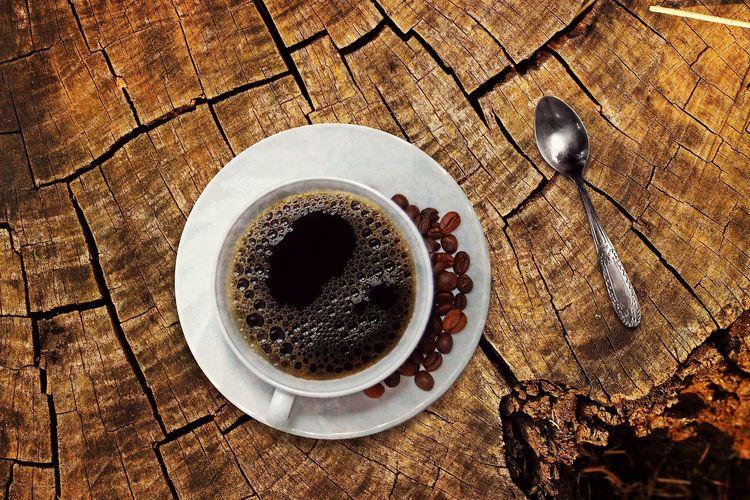 Ilustrasi kopi tubruk