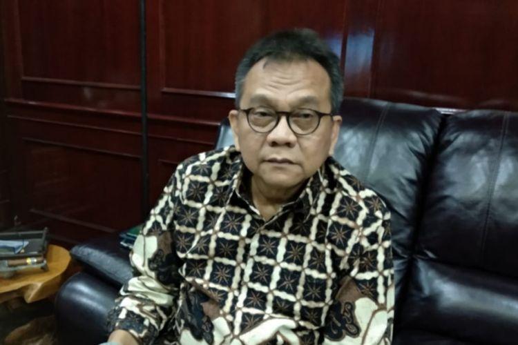 Ketua DPD Partai Gerindra DKI Jakarta Mohamad Taufik di Gedung DPRD DKI Jakarta, Jalan Kebon Sirih, Jakarta Pusat, Senin (18/2/2019).