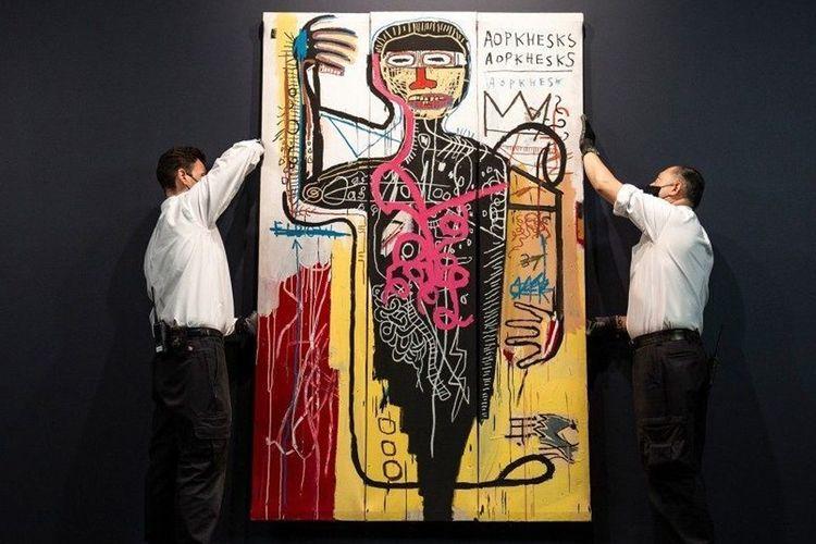 Versus Medici, lukisan karya Jean Michel Basquiat