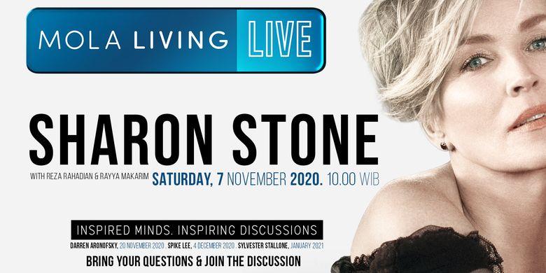 Acara Mola Living Live dengan Sharon Stone sebagai bintang tamu.