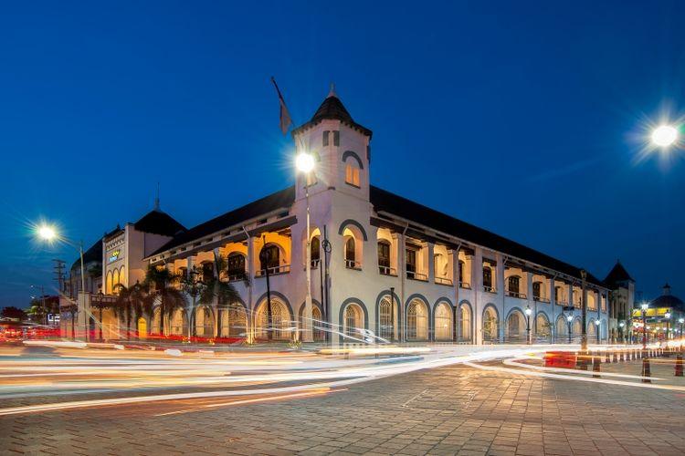 Bangunan bersejarah ?De Factorij? of Nederlandse Handel Maatschappij (NHM) di Kota Tua, Semarang, Jawa Tengah