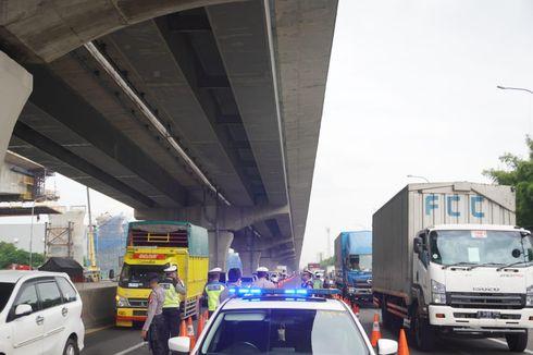 Hari Pertama Pemberlakuan Pengendalian Transportasi, Trafik Tol Turun
