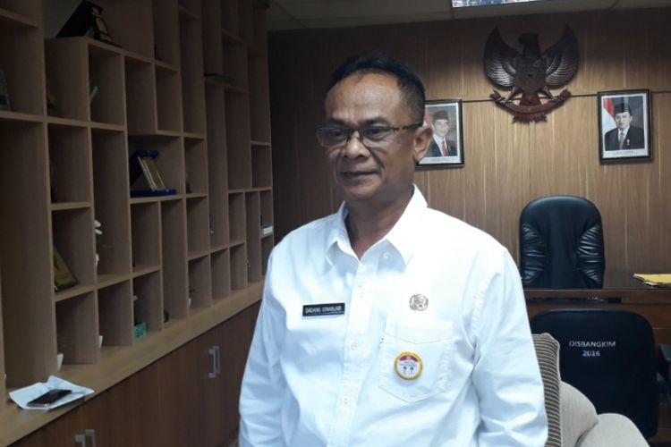 Kepala Dinas Perumahan, Kawasan Permukiman dan Pertanahan (Disperkimtan) Kota Bekasi Dadang Ginanjar, Rabu (16/1/2019).