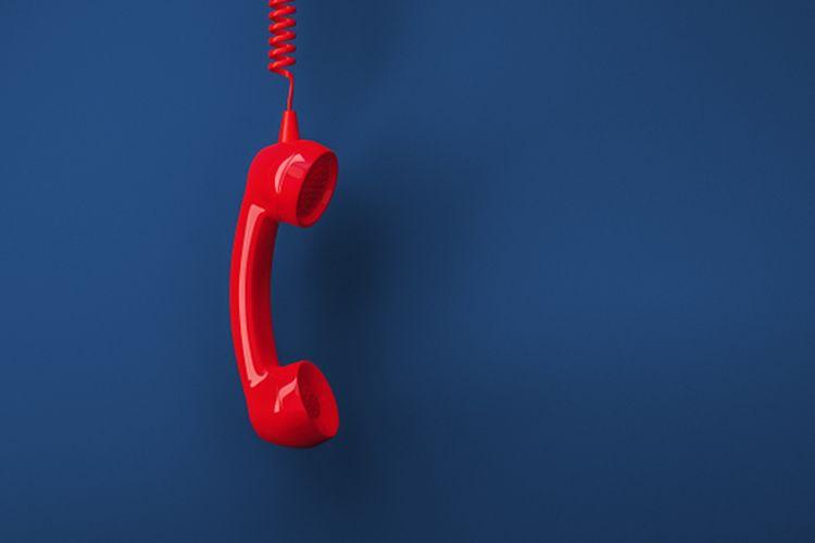 Ilustrasi telepon, hotline