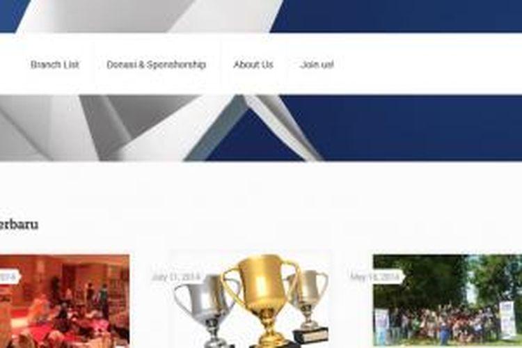 Screenshot situs Komunitas Jendela