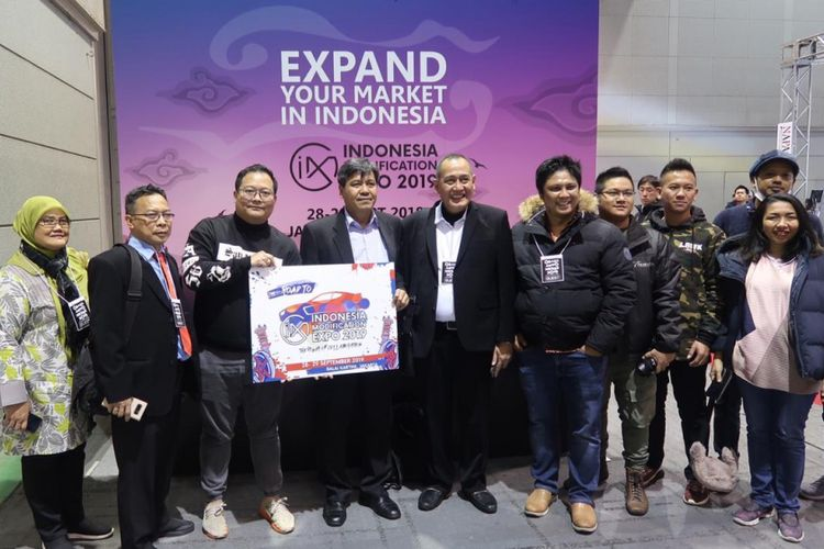 Rombongan Great of Indonesia di Osaka Automesse 2019