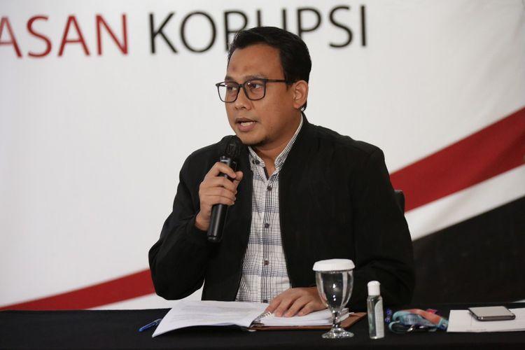 Plt Juru Bicara KPK Ali Fikri dalam konferensi pers Kinerja KPK Semester I 2020, Selasa (18/8/2020).