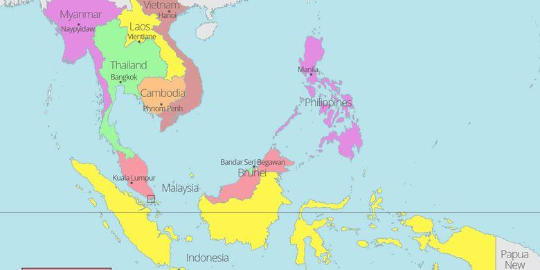 Kerja Sama Indonesia Dengan Negara Negara Asean Halaman All Kompas Com