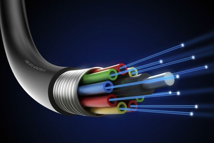 Ilustrasi kabel fiber optic